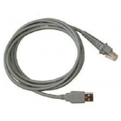 Datalogic Cable, USB, Type A, Coiled, 9', CAB-424E