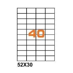 100ASA Etichette in fogli A4  52x30 box 10