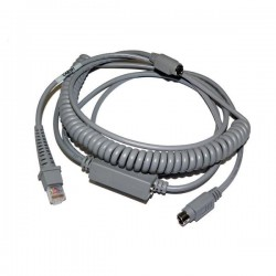 Datalogic cab 391 coiled ps2 wedge cable w/ext. power input