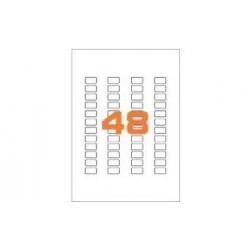 100ASA Etichette in fogli A4  22x12.7 box 10
