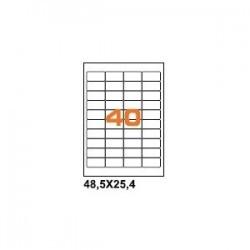 100ASA Etichette in fogli A4  48.5x25.4 box 10