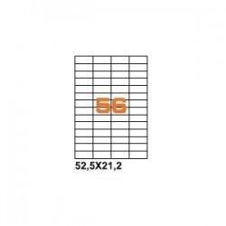 100ASA Etichette in fogli A4  52.5x21.2 box 10