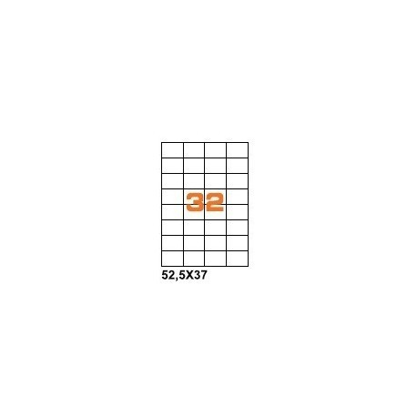 100ASA Etichette in fogli A4  52.5x37 box 5