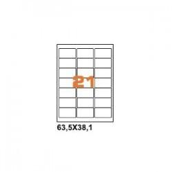 100ASA Etichette in fogli A4 56x28 box 5