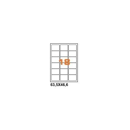 100ASA Etichette in fogli A4  63.5x38.1 box 10