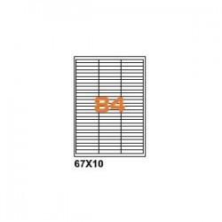 100ASA Etichette in fogli A4  67x10 box 5