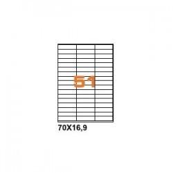 100ASA Etichette in fogli A4 70x16.9 box 5