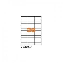 100ASA Etichette in fogli A4 70x24.7 box 5