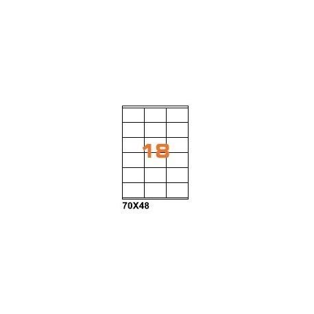 100ASA Etichette in fogli A4 70x48 box 5