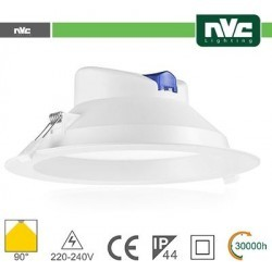 Downlight LED IP44 25W 3000K 2450LM 90º Φ224/Φ195