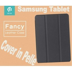 Custodia in pelle per Tablet Samsung TabS2 8 9.7 T815 Nera