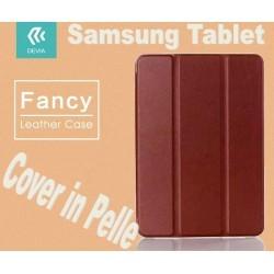 Custodia in pelle per Tablet Samsung TabS2 8.0 T715 Marrone