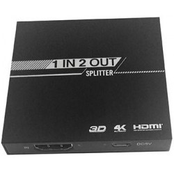 Splitter Mini, HDMI 1x2, 1 ingresso 2 uscite, 4K