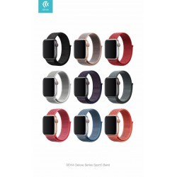 Cinturino per Apple Watch 4 serie 44mm Delux Sport 3 Black