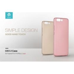 Cover CEO Microfibra Per Huawei P10 Plus Champagne Gold