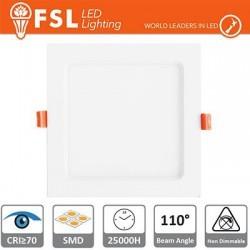 Downlight LED IP20 18W 4000K 1400LM 110° FORO:210x210mm
