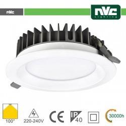 Downlight LED IP40 30W 3000K 2400LM 100º FORO:200mm