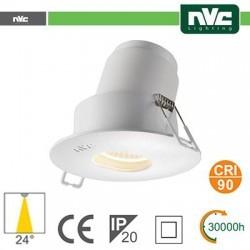 Faro direzionabile LED IP20 9W 4000K 700LM 24º FORO:95mm