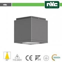 Downlight Cubo LED IP54 da soffitto - 12W 960lm 3000k 85°
