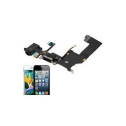 Basetta Connettore Carica Audio cavo flat per iPhone 5 Bianc